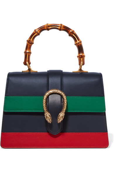 gucci female gucci dionysus bamboo medium leather tote navy