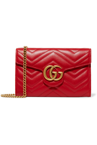 gucci female 250960 gucci gg marmont quilted leather shoulder bag red