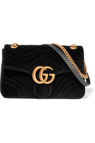 gucci velvet bag. gucci. gg marmont medium quilted velvet shoulder bag gucci