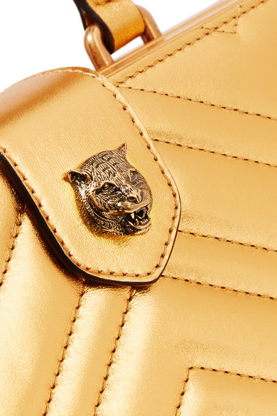 777712687b5 Gucci. Broadway Box quilted metallic leather clutch. £1
