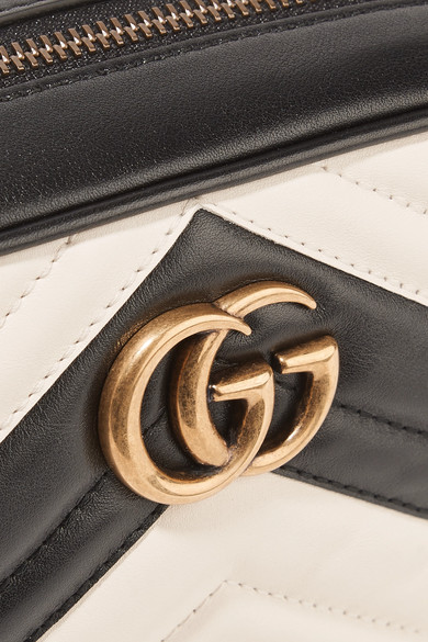 GUCCI Leathers GG Marmont Camera mini quilted leather shoulder bag