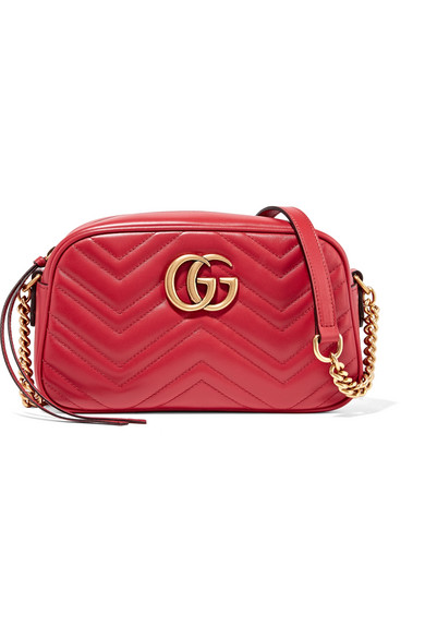 gucci female gucci gg marmont camera small quilted leather shoulder bag claret