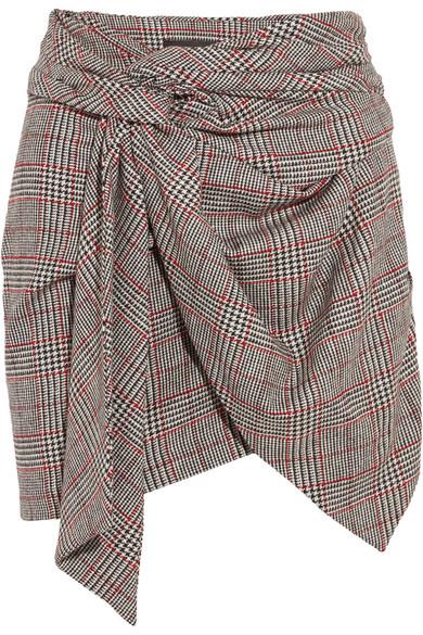 Isabel Marant - Kim Wrap-effect Tweed Mini Skirt - Gray