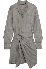 Isabel Marant Khol wrap-effect woven mini dress
