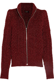 Daley cable-knit Lurex cardigan