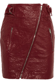 Isabel Marant Breezy faux washed-leather mini skirt