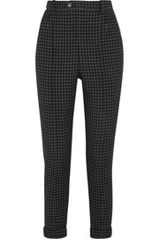 Iola checked wool-twill tapered pants