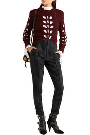 Isabel Marant Iola checked wool-twill tapered pants