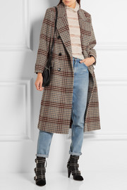 Isabel Marant Flint double-breasted plaid wool coat