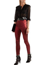 Isabel Marant Nevada stretch-taffeta skinny pants