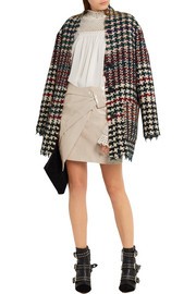 Isabel Marant Anders wrap-effect coated cotton-blend mini skirt