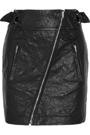 Isabel Marant Breezy crinkled faux leather mini skirt