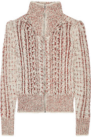 Isabel Marant Easley mélange cable-knit wool-blend cardigan