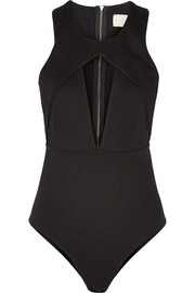 Michelle Mason Cutout stretch-ponte bodysuit