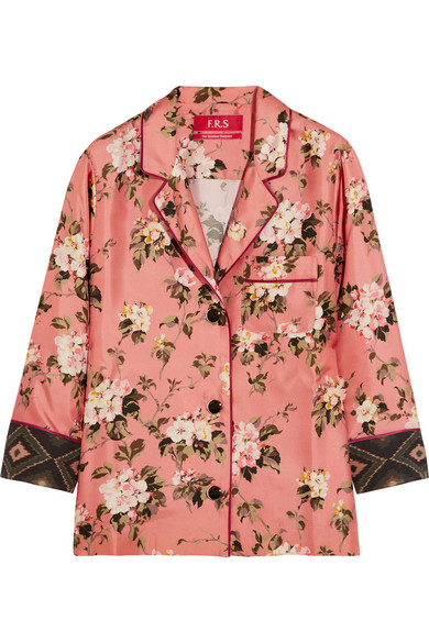 F.R.S For Restless Sleepers - Era Floral-print Silk-twill Blouse - Pink