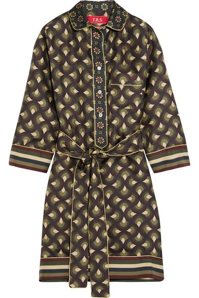 F.R.S For Restless Sleepers. Galatea printed silk-twill mini dress