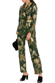Jacquard straight-leg pants