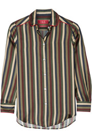 Leda striped silk shirt