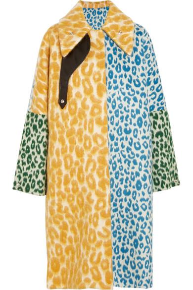 Acne Studios - Bertilyn Leo Oversized Leopard-print Felt Coat - Yellow