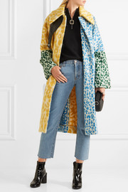 Acne Studios Bertilyn Leo oversized leopard-print felt coat