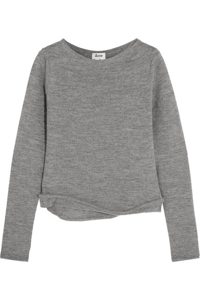 Acne Studios - Janelle Alpaca And Wool-blend Sweater - Gray