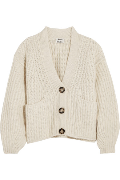 Acne Studios - Hadlee Oversized Wool-blend Cardigan - Off-white