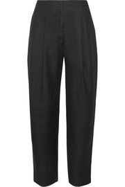 Selah wool-twill wide-leg pants