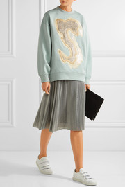Acne Studios Karvel oversized appliquéd cotton-blend sweatshirt