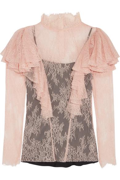Philosophy di Lorenzo Serafini - Ruffled Lace Blouse - Baby pink
