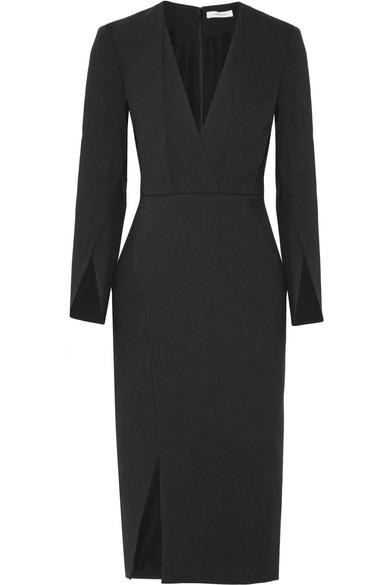 Protagonist - Wrap-effect Cady Dress - Black