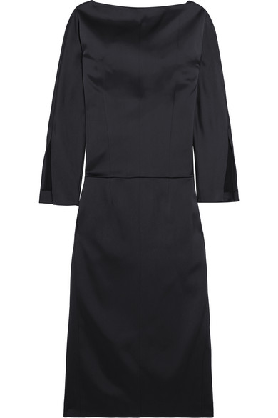 Protagonist - Sade Satin Dress - Petrol