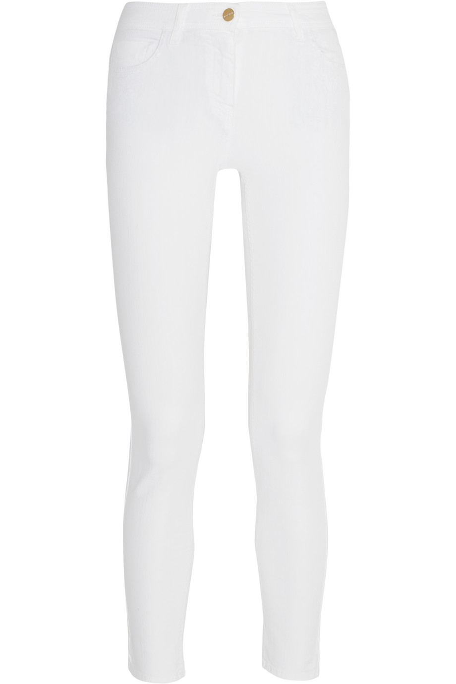 Etro Low-Rise Skinny Jeans, White, Women's, Size: 27