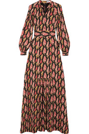 Anais floral-print silk-georgette maxi dress