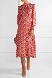Miranda floral-print silk-georgette dress