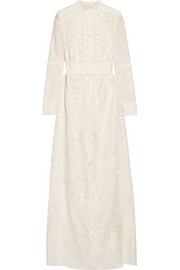 Kelly embroidered silk maxi dress