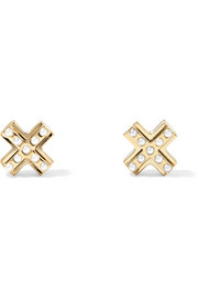 Givenchy Gold-tone faux pearl earrings