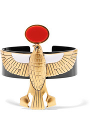 Givenchy Falcon arm cuff in gold-tone, enamel and resin