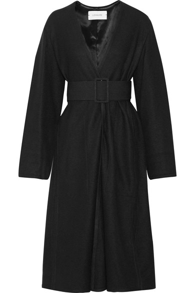 Lemaire - Belted Wool Coat - Black