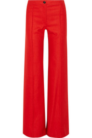 Wool flared pants