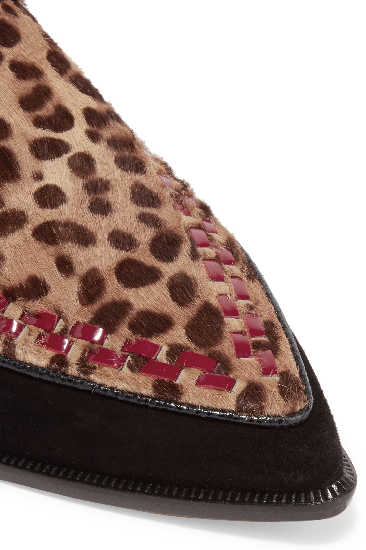 Isabel Marant Bottines en cuir, daim et façon poulain à imprimé léopard Rowi
