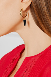 Isabel Marant Gold-plated onyx hoop earrings