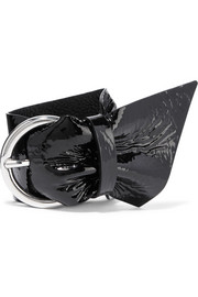 Buckled patent-leather bracelet