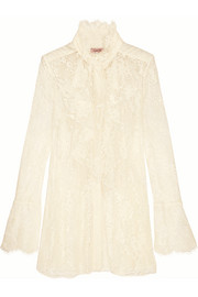 Lanvin Ruffled lace blouse