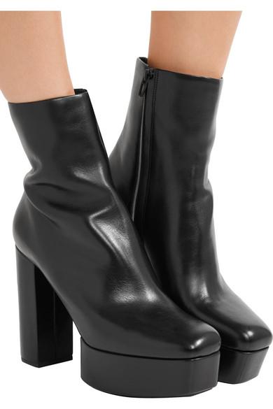 buy cheap hot sale Alexander Wang Platform Leather Ankle Boots under $60 sale online 9KwYv