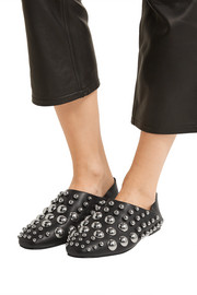 Edie studded leather loafers