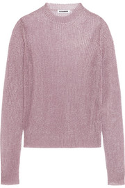 Jil Sander Metallic open-knit sweater