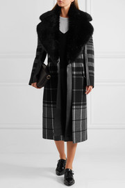 Calvin Klein Collection Checked wool coat