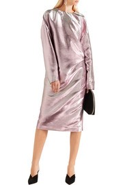 Jil Sander Metallic cotton-blend dress