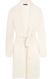 Calvin Klein Collection Ribbed cashmere and silk-blend cardigan