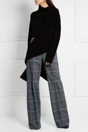 Calvin Klein Collection Checked wool wide-leg pants